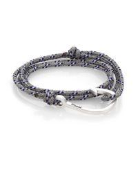 Miansai | Blue Hook Rope Wrap Bracelet/silvertone for Men | Lyst