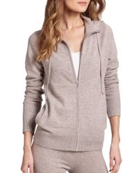 Saks Fifth Avenue | Brown Cashmere Hoodie | Lyst