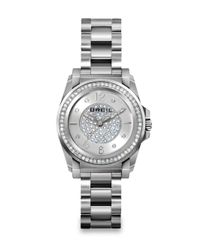 Breil | Metallic Manta Crystal & Stainless Steel Bracelet Watch | Lyst