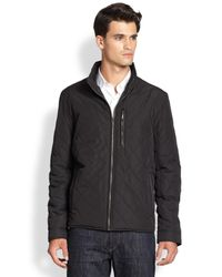 Cole Haan | Black Quilted Nylon Jacket for Men | Lyst