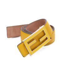 Fendi - Yellow Flamingo Malto Belt for Men - Lyst