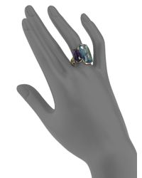Marco Bicego - Murano London Blue Topaz, Amethyst & 18k Yellow Gold Ring - Lyst