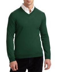 Saks Fifth Avenue | Red Merino Wool Sweater for Men | Lyst