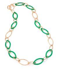 Vhernier | Metallic Pop Chrysoprase & 18k Rose Gold Marquis Chain Necklace | Lyst