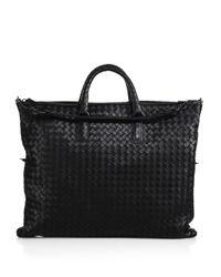 Bottega Veneta   Black Medium Convertible Intrecciato Leather Tote   Lyst