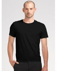 Theory | Black Marcelo Stay Crewneck Tee for Men | Lyst