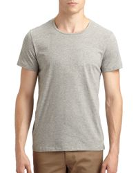 Theory | Gray Marcelo Stay Crewneck Tee for Men | Lyst