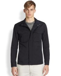 Theory | Black Yost Fuel Nylon Jacket for Men | Lyst