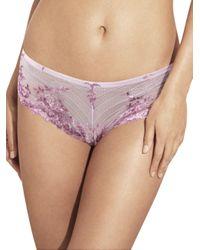 Wacoal   Purple Embrace Lace Tanga   Lyst