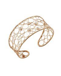 Roberto Coin - Purple Bollicine Diamond & 18k Rose Gold Medium Cuff Bracelet - Lyst