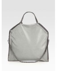 Stella McCartney | Gray Shaggy Deer Falabella Fold-over Small Tote | Lyst