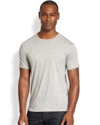 VINCE | Gray Crewneck Tee for Men | Lyst