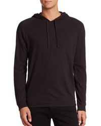 Vince - White Jersey Pullover Hoodie for Men - Lyst