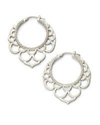 John Hardy | Metallic Naga Sterling Silver Medium Lace Hoop Earrings/1.6 | Lyst