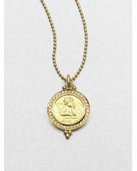 Temple St. Clair - Metallic Angel Diamond & 18k Yellow Gold Pendant - Lyst
