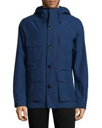 Woolrich - Blue Gore-tex Mountain Field Jacket for Men - Lyst