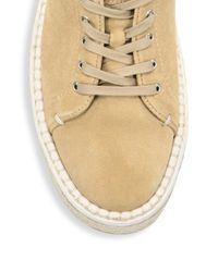 Rag & Bone - Natural Kent Suede Espadrille Platform Sneakers - Lyst