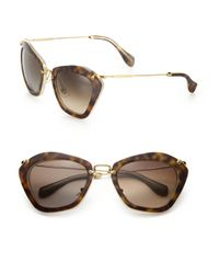Miu Miu - Natural Women's Noir Catwalk Cat Eye Sunglasses - Black - Lyst