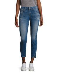 AMO   Blue Twist Vintage Skinny Jeans   Lyst