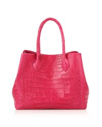 Nancy Gonzalez - Pink Small Crocodile Expandable Tote - Lyst
