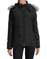 Canada Goose - Black Chelsea Fur-trimmed Parka - Lyst