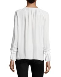 Ramy Brook - White Sheila Peasant Blouse - Lyst