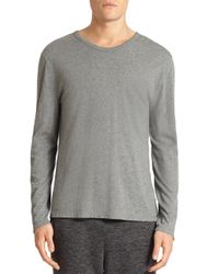 T By Alexander Wang | Gray Solid Cotton Tee for Men | Lyst