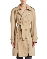 Tre by Natalie Ratabesi - Natural Cotton Trench Coat - Lyst