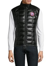 Canada Goose - Black Hybridge Lite Puffer Vest for Men - Lyst