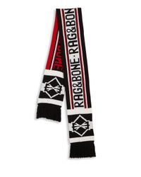 Rag & Bone - Red Matthew Merino Wool Scarf for Men - Lyst