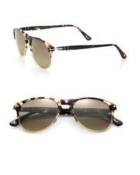 Persol - Brown 55mm Pilot Sunglasses for Men - Lyst