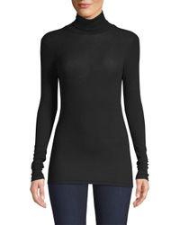 ATM - Women's Rib-knit Turtleneck - Black - Lyst
