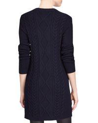 Polo Ralph Lauren - Blue Aran Casual Merino Wool Dress - Lyst