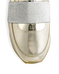 Philippe Model - Metallic Leather Sneakers - Lyst