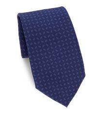 Ralph Lauren Purple Label - Blue Printed Silk Tie for Men - Lyst