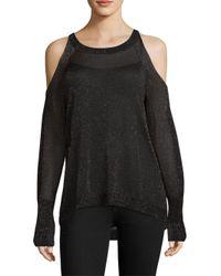 Ramy Brook - Black Tasha Cold Shoulder Sweater - Lyst