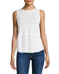 Generation Love | White Nolan Pleated Top | Lyst
