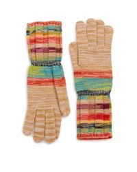 Missoni - Multicolor Striped Wool-blend Gloves - Lyst