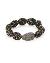 Bavna - Metallic Mixed Pavé Bracelet - Lyst