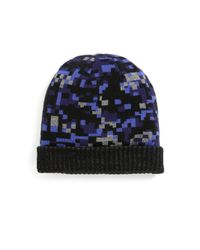 Saks Fifth Avenue - Black Geometric Print Hat for Men - Lyst