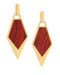 Stephanie Kantis - Red Wood Spear Drop Earrings - Lyst
