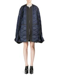 Sacai - Blue Silk Quilted Jacket - Lyst