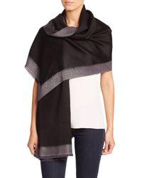 Bajra - Black Frame Silk & Cashmere Scarf - Lyst
