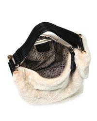 MANU Atelier - Black Micro Fernweh Shearling Bucket Bag - Lyst