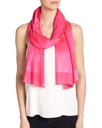 Bajra - Pink Frame Satin Weave Scarf - Lyst