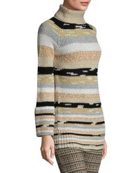 Missoni - Natural Wool & Cashmere Striped Sweater - Lyst