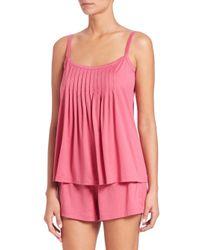 Hanro | Pink Juliet Shorty Pajamas | Lyst
