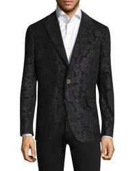 Robert Graham - Black Spruce Paisley Notch Lapels Jacket for Men - Lyst