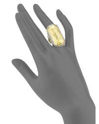 Konstantino - Metallic Gaia 18k Yellow Gold Rectangular Ring - Lyst