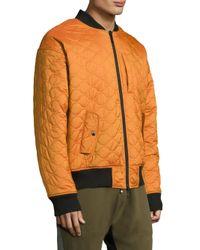 Mostly Heard Rarely Seen - Orange Long-sleeve Firea Bomber for Men - Lyst